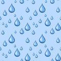 Seamless background with blue drops of water Stock Images