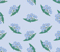 Seamless background with blue flowers Royalty Free Stock Photo
