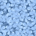 Seamless background with blue flowers. Vector illustration. Royalty Free Stock Photo