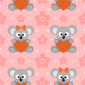 Seamless background card with koalas funny Royalty Free Stock Photo