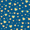 Seamless background with cartoon hearts Stock Photos