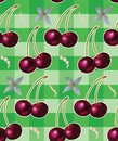 Seamless background with cherries Royalty Free Stock Photography