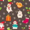 Seamless background christmas and new years illustration eps Stock Photo
