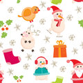 Seamless background christmas and new years vector illustration eps Stock Image