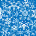 Seamless background with christmas snowflakes a Stock Photos