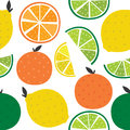Seamless background with citrus