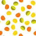 Seamless  background of citruses-lemon, orange and lime Royalty Free Stock Photo
