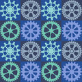 Seamless background of color gear wheels. Vector illustration.