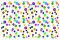 Seamless background with colorful circles on a white background Royalty Free Stock Photo