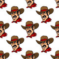 Seamless background with cowboy pattern in hat Royalty Free Stock Photo