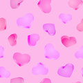 Seamless background. 3D hearts. Valentines day