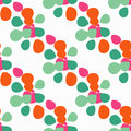 Seamless background with decorative colorful petals. Vector illustration.