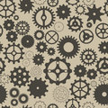 Seamless background with different gear wheels vector elements for desing Stock Photography