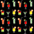 Seamless background drinks and cocktails Royalty Free Stock Photo
