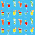 Seamless background drinks and cocktails texture interior manufacturing Royalty Free Stock Photos