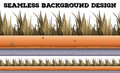 Seamless background with dry grass