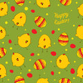 Seamless background with easter chickens abstract eggs and template for the production of child utensils clothing wallpaper Royalty Free Stock Photo