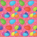 Seamless background, Easter eggs Stock Photos