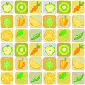 Seamless background from elements of vegetables and fruit vector illustration Royalty Free Stock Image