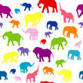 Seamless background with  elephants silhouettes Royalty Free Stock Photos