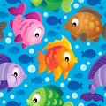 Seamless background fish theme eps vector illustration Royalty Free Stock Photography