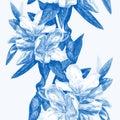 Seamless background of flowers azaleas