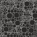 Seamless background foam bubbles, white on black Royalty Free Stock Photo
