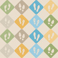 Seamless background with footprints and shoeprint icons for your design Royalty Free Stock Images