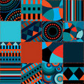 Seamless background of geometric patchwork Royalty Free Stock Photo