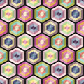 Seamless background geometry pattern colorful vector illustration Royalty Free Stock Photos