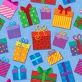 Seamless background gift theme  Stock Image