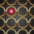 Seamless background with golden luxury circles Stock Photography