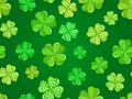 Seamless background with green shamrock. Royalty Free Stock Image