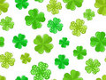 Seamless background with green shamrock. Royalty Free Stock Photography