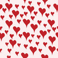 Seamless background with hand drawn hearts in love retro romance Stock Photo