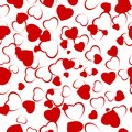 Seamless background with heart. EPS 8 Royalty Free Stock Photo