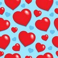 Seamless background with hearts 1 Stock Photography