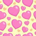 Seamless background with hearts 2 Royalty Free Stock Image