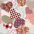 Seamless background of hearts patchwork Stock Images