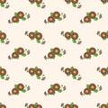 Seamless background image colorful botanic flower leaf plant bro