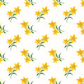 Seamless background image colorful botanic flower leaf plant yellow tiger lily Royalty Free Stock Photo