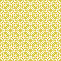 Seamless background image of vintage yellow round kaleidoscope pattern. Royalty Free Stock Photo