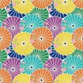 Seamless background with japanese umbrellas Royalty Free Stock Photo