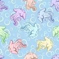 Seamless Background, Jellyfish Royalty Free Stock Photo