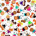 Seamless  background with kids Royalty Free Stock Photography