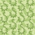 Seamless background with leaves pattern of oak green Stock Photography