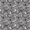 Seamless background with   lemon slices Royalty Free Stock Image