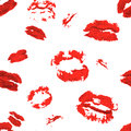 Seamless background. lips prints