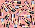 Seamless background with lipsticks  Seamless backg Stock Image