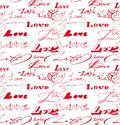 Seamless background with love inscription vector Royalty Free Stock Photos